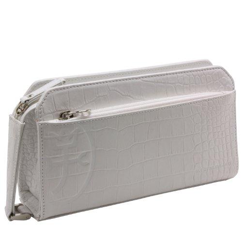 [カステルバジャック] CASTELBAJAC メンズミニセカンドバッグ(スパーク)063201 (シロ-white)