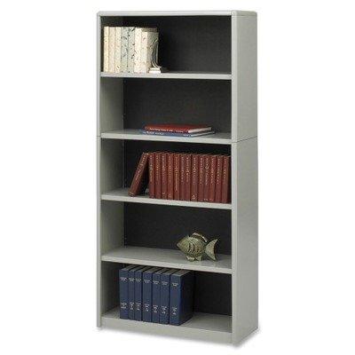Safco Home Office 5-Shelf ValueMate Economy Bookcase - Gray Safco Workspace 5 Shelf