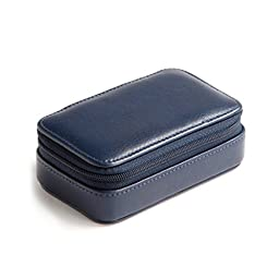Small Zip Case - Full Grain Leather - Navy (blue)