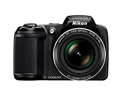 Nikon Coolpix L340 20.2 MP Digital Camera with 28x Optical Zoom and 3.0-Inch LCD (Black)