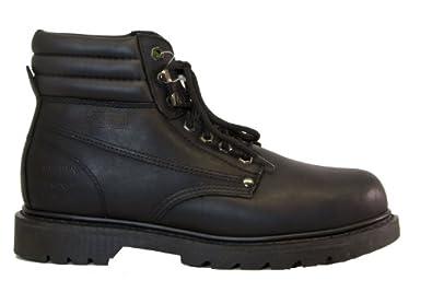 "Golden Fox 6"" Pig Skin Lining Work Boot, Black 8 M US"