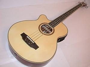 Left Hand Oscar Schmidt Acoustic Electric Bass Lefty, OB300NLH, 4-Band Active EQ