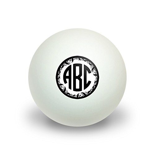 Graphics and More Personalized Custom Novelty Table Tennis Ping Pong Ball 3 Pack - Monogram Circle Font Vine Outline (Personalized Ping Pong Balls compare prices)