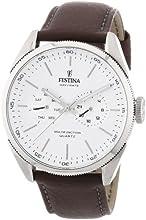 Comprar Festina F16629/1 - Reloj analógico de cuarzo para hombre con correa de piel, color marrón