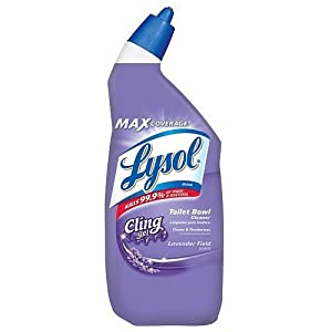 6 x Lysol Cling Gel Toilet Bowl Cleaner, Lavender 24 oz (709 ml)