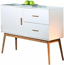 Links 20901700 Melanie Commode MDF/Bambou Blanc 115 x 39 x 90 cm