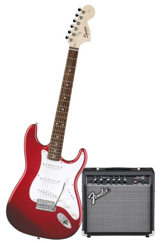 Squier by Fender Stop Dreaming-Start Playing Set: Affinity Special w/ Fender 15G Amplifier, Metallic Red