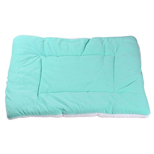 Per Soft Comfortable Pet Summer Air Condition Pad Mat Bed Mattress for Dog and Cat(Lightblue,S)