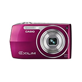 Casio EX-Z2000 14.1MP Digital Camera with 5x Ultra Wide Angle Zoom with CCD Shift Image Stabilization and 3.0 inch LCD (Red)