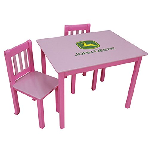 <b>John Deere Kids Pink Table and 2 Chairs</b>