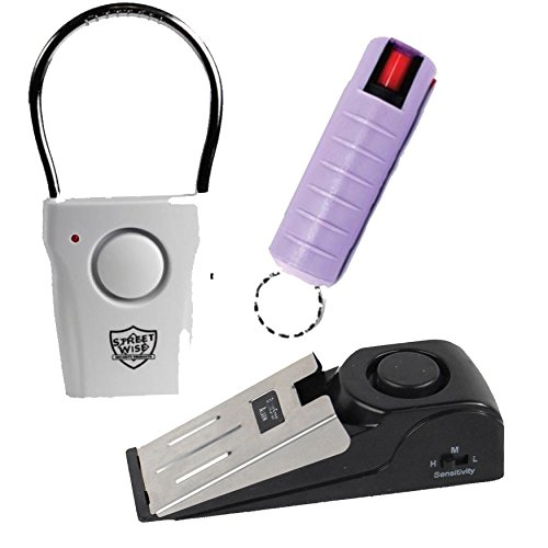 Apartment Safety Bundle: Super Safety Door Stop Alarm, Streetwise ...