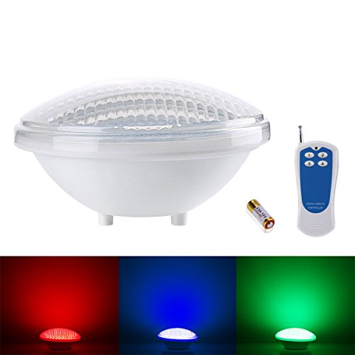 le 174 dimmable 18w par56 rgb pool lights led underwater light color changing ebay