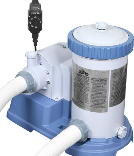Cheap intex 2500 gph above ground swimming pool filter pump with gfci and auto timer for intex for Above ground swimming pool motors