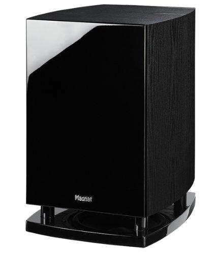 Magnat-Quantum-6725-A-Aktiver-Subwoofer-Bassreflex-Downfire-schwarz-front-piano-schwarzseitenteile-esche-dekor-schwarz