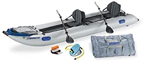 Sea Eagle 435 Paddle Ski Pro Package Catamaran Inflatable Kayak