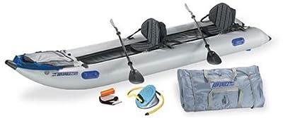 Sea Eagle 435 Paddle Ski Pro Package Catamaran Inflatable Kayak