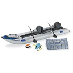 Sea Eagle 435 Paddle Ski Catamaran Inflatable Kayak with Pro Package by Sea Eagle