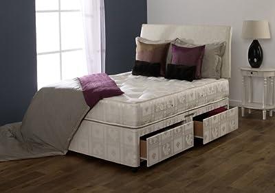 Happy Beds Majestic Divan Bed Set 1000 Pocket Sprung Mattress No Drawers No Headboard