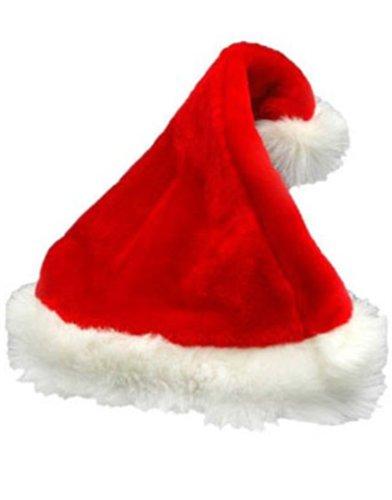 Deluxe Santa Hat Velveteen with White Faux Fur Trim Pkg/1 - 1
