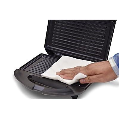 Oster CKSTSM2222 700-Watt 2-Slice Grill Plate Sandwich Maker (Black)