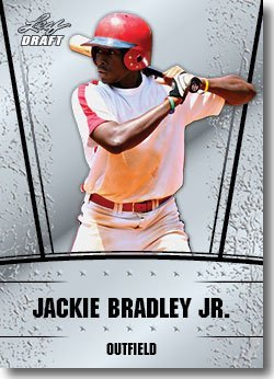 2011 Leaf Draft Silver Prospects Baseball Card #21 Jackie Bradley Jr. - Boston Red Sox (Prismatic Design)(Rookie / Prospect)(Baseball Trading Cards)