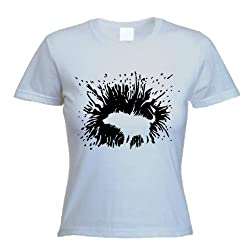 Banksy Shaking Dog Womens T-shirt (Choice of colours)