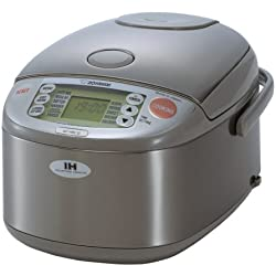 Zojirushi NP-HBC10 5-1/2-Cup (Uncooked) Rice Cooker and Warmer with Induction Heating System, Stainless Steel