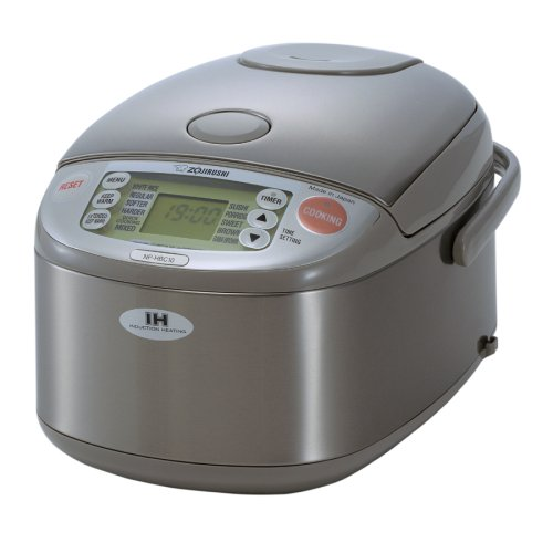 Zojirushi NP-HBC10 5-1/2-Cup (Uncooked) Rice Cooker and Warmer with Induction Heating System, Stainless Steel Discount
