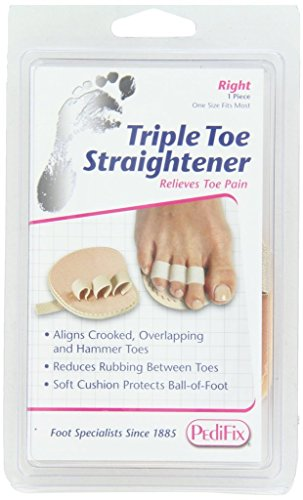 PediFix Triple Toe Straightener, Right Foot (Slip On Corn Pads compare prices)