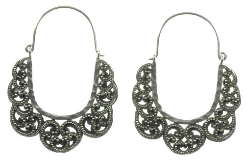 Silver Oxbow Earring Jewelry of Bali