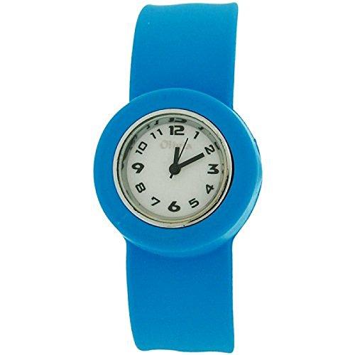 Olivia Kids Slap On Blue Quartz Movement White Dial Watch