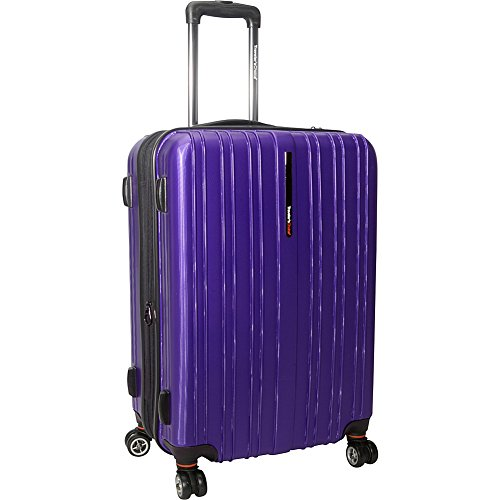 Travelers Choice Traveler's Choice Tasmania 25 Inch Expandable Spinner Luggage, Purple, One Size (25 Inch Zip Ties compare prices)