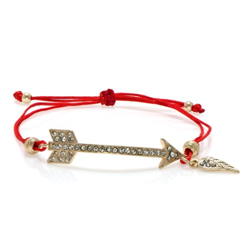 Hunger Games Jewelry: Katniss Arrow and Cord Adjustable Bracelet