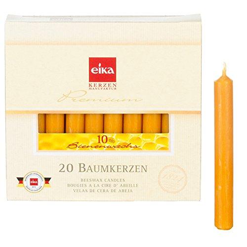 20 Packungen Eika-Christbaumkerzen mit 10 % Bienenwachs, 20er Packung