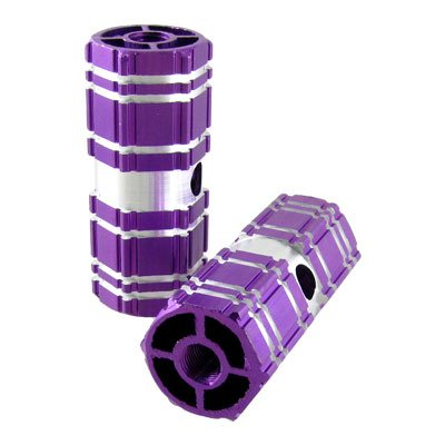 Como 2 Pcs Aluminum Antislip Bicycle Bike Axle Foot Pegs Purple
