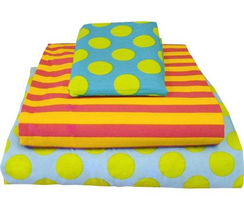Marvelous Dots Stripes Missmatched Twin Sheet Set