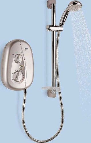 Mira Vie 10.8kW Electric Shower Satin Chrome 2.1539.393
