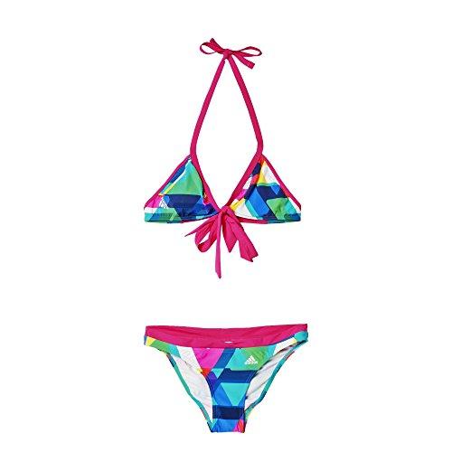 adidas Damen Bikini BGII AOP HN BIK, Blau/Gelb/Rosa, 32, 4056562793122