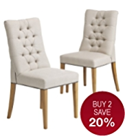 2 Greenwich Padded Dining Chairs