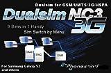 NC3 Dualsim Triplesim Triplesim 3G adaptador para 3 tarjetas SIM en Samsung Galaxy S3