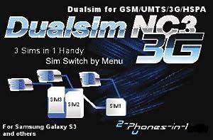 NC3 3G Adaptateur Dualsim Triple Sim pour Samsung Galaxy S3 I9300