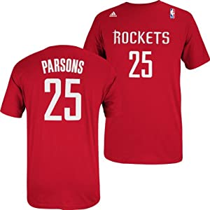 Houston Rockets Adidas NBA Chandler Parsons #25 Name & Number T-Shirt 2XL by adidas