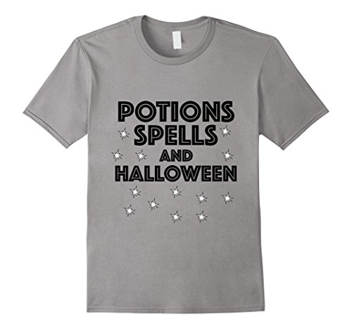 [Men's Potions Spells and Halloween Cool Halloween Shirts Medium Slate] (Creative Do It Yourself Halloween Costume Ideas)