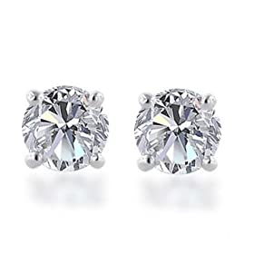 14k Gold, Round, Diamond Stud Earrings - EXTRA 40% Off at Amazon.com LIMITED Time Offer