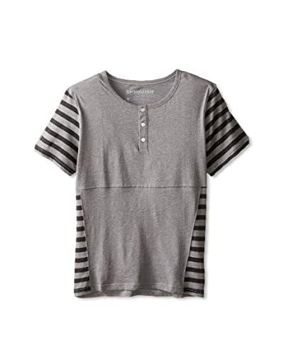 Spenglish Men's Stripe Pima Short Sleeve Henley