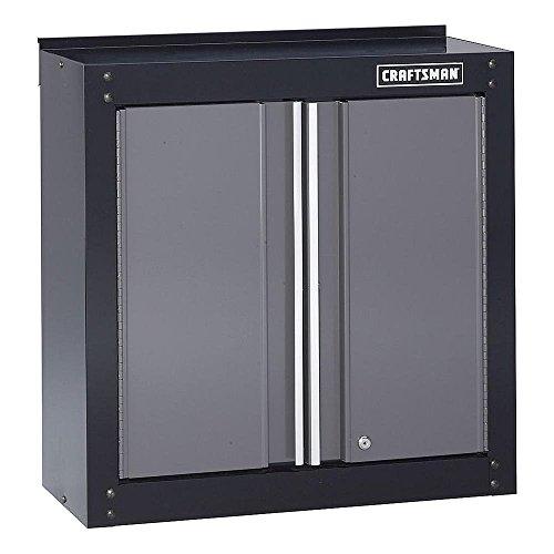 Craftsman 28″ Wide Wall Cabinet – Black/Platinum