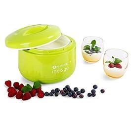 Klarstein Me&Yo Joghurtmaker 1 Liter Joghurtbereiter ohne Strom (spülmaschinengeeignet, Doppelwandgehäuse, Blockreifeverfahren) grün