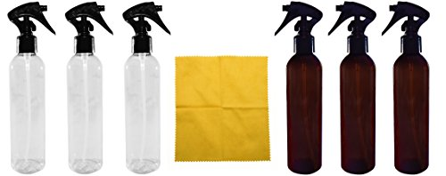 8 Ounce Mini Trigger Sprayer PET Bottles (6 Pack) Mixed