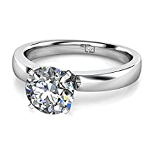 buy Platinum Sometimes Less Is Best And This Simple Setting Allows The Wearer To Show Off Her Center Stone First And Foremost