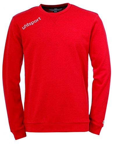 Uhlsport-Essential felpa, Unisex, Bekleidung Essential Sweatshirt, rosso, M